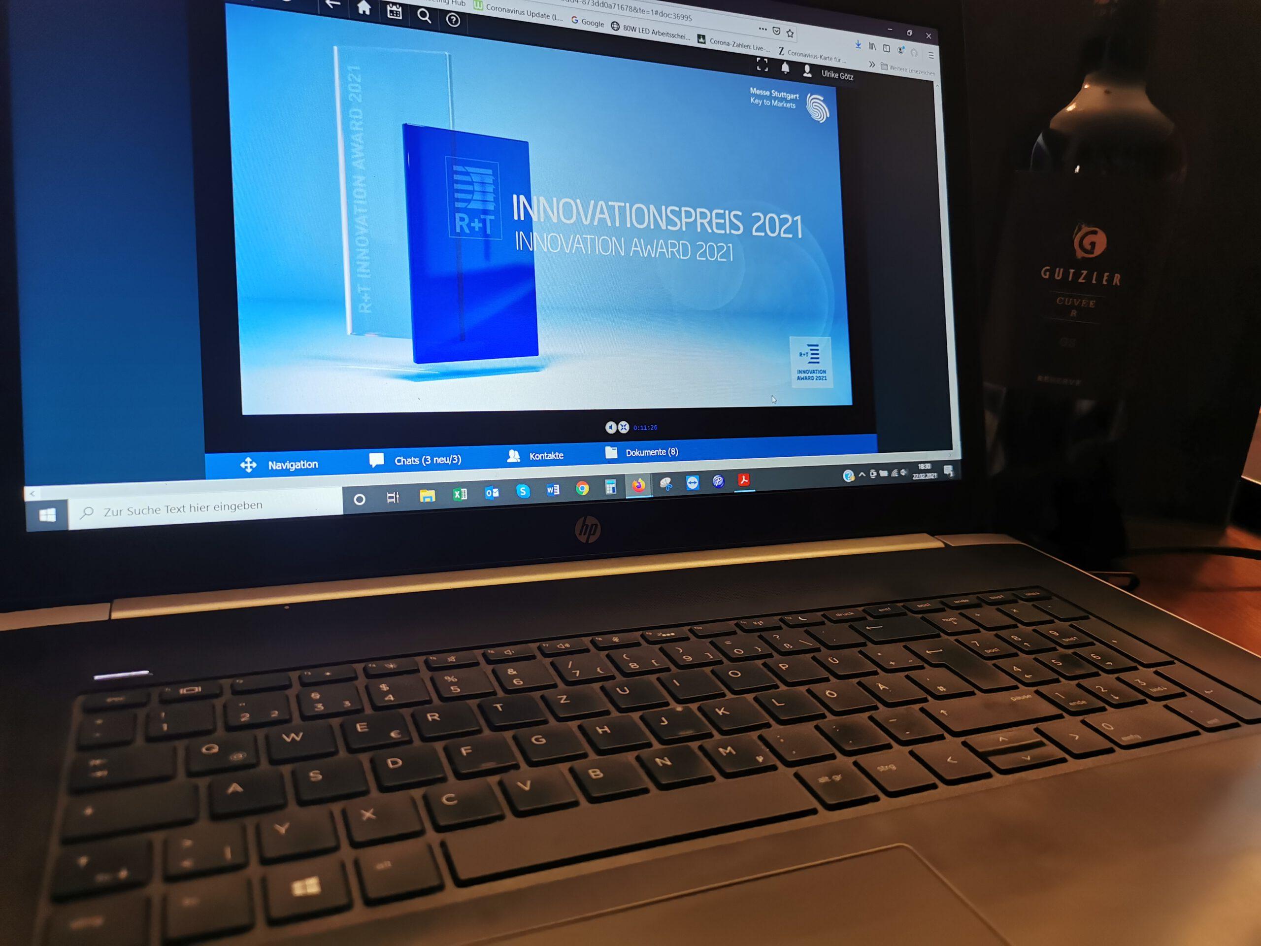 Innovationspreis R&T Stuttgart 2021
